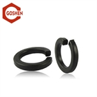 DIN127 metric black oxide spring washer